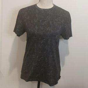 TED BAKER Printed 100% Cotton Short Sleeve T Shirt